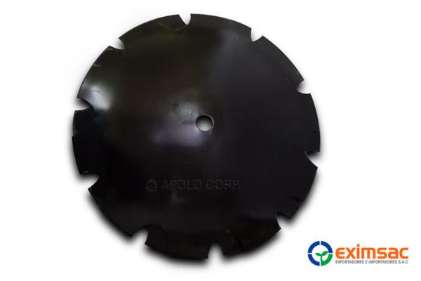 Disco dentado eje circular